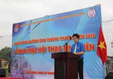 Lễ ra quân hưởng ứng tháng thanh niên 2015 và khai mạc hội thao sinh viên