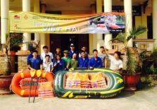 Sinh viên ĐH Hàng hải VN tham gia tình nguyện tại xã Việt Hải, Huyện Cát Hải