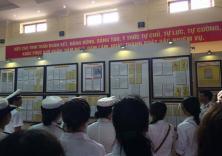 """Đoàn TNCS Hồ Chí Minh Nhà trường tham gia hoạt động tuyên truyền về chủ quyền biển đảo: """"Hoàng Sa, Trường Sa - Những bằng chứng lịch sử và pháp lý"""""""