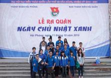 """Đoàn viên thanh niên trường ĐH Hàng hải Việt Nam tham gia chương trình """"Ngày chủ nhật xanh"""""""