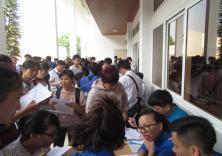 Đoàn trường tổ chức hoạt động tiếp sinh khóa 57