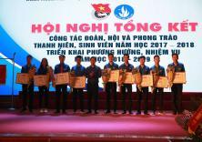 Hội nghị Tổng kết công tác Đoàn, Hội và PT thanh niên, SV năm học 2017 - 2018
