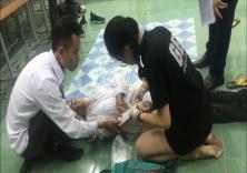 Tổ chức Lớp tập huấn kỹ năng sơ cấp cứu cho sinh viên tình nguyện